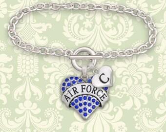 Custom Initial Air Force Bracelet - USAF54125