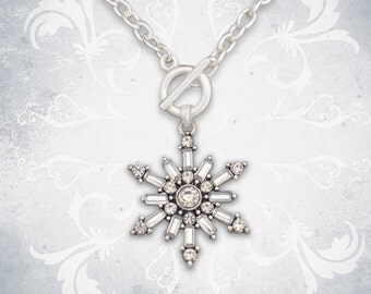 Snowflake Toggle Necklace