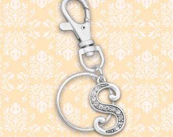 S Initial Keychain Zipper Pull - 54367