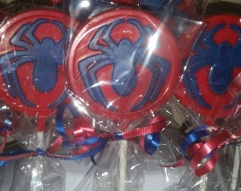 20 Spiderman Candy Lollipop