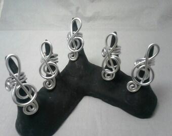 Treble Clef Dreadlock Jewelry, Hair Jewelry, Loc Coils, Dreadlock Jewelry, Dreadlock Beads, Dread, Wire  Loc Jewelry,  Braid Beads