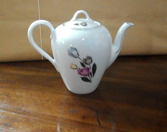 Coffee pot coffee hand - painted porcelain coffee - vintage - German porcelain maker