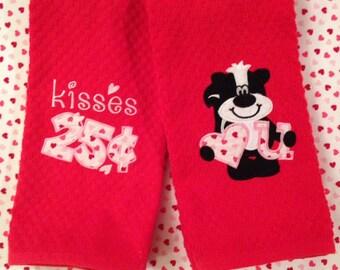 Happy Valentine's Day Kitchen Towels