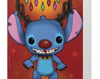 Stitch Pop Christmas Card