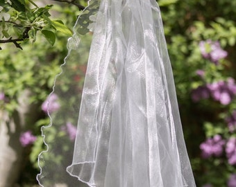 Wedding veil, Bridal Veil white, ivory, Wedding veil bridal, orchid, Novia velo, orquídea