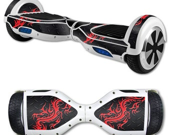 Skin Decal Wrap for Self Balancing Scooter Hoverboard unicycle Red Dragon