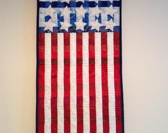 Quilted American Flag Door Banner