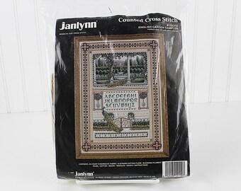 English Garden Sampler Counted Cross Stitch Kit, Janlynn, K124