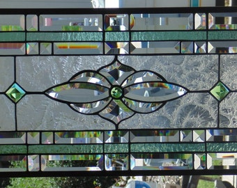 Stained Glass Window Hanging 28 1/4 X 13 1/4