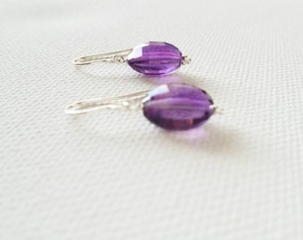 Amethyst and silver earrings. Amethyst. Silver. Handmade