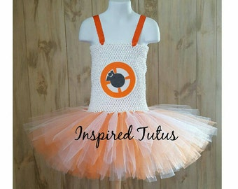 Free shipping sale. BB-8 tutu. BB8 costume. Perfect for your favorite droid.  More Star wars characters available.