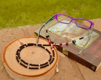 Handmade eyeglasses holder