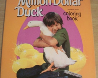 Fabulously Vintage Walt Disney Presents Million Dollar Duck Coloring Book 1971 by Whitman #1142
