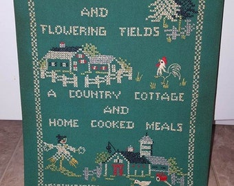 1970's Vintage Needlepoint tapestry (ready to frame)
