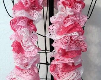 Pink Ruffle Scarf *Sale*