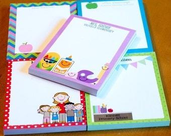 Teacher Notepads, School Stationery, Teacher Appreciation Gift, Tablet, End of Year Teacher Gift