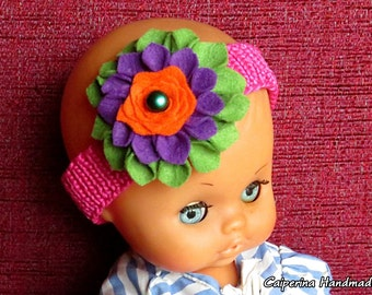 Band hair for baby with flower - Strap - dahlia - accessories for childhood baby care