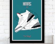Mars Blackmon & the Nike commercials - Air Jordan III poster - 1988