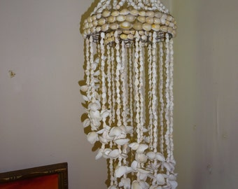 Vintage Shell Mobile Chandelier Wind Chime - FREE SHIPPING