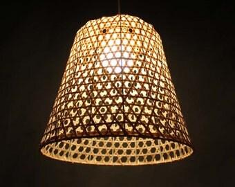 Hat Shape Bamboo Lightings-Pendant Lights-Chandelier-Deco Lamp-Ceiling Lightings-Hanging Lamp-Bamboo Lamp Fixtures-Bar Dining Room Lighings