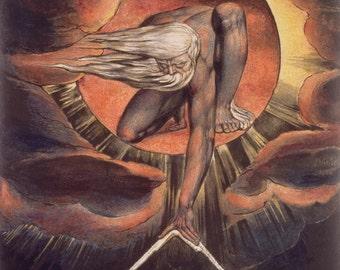 William Blake: Ancient of Days. Fine Art Print/Poster (00236)