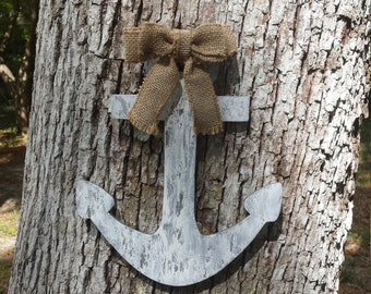 Anchor Door Hanger - Distressed Anchor - Beach Home Decor