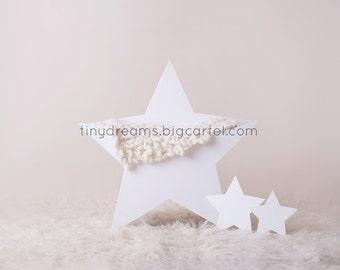 Newborn digital backdrop - wooden star prop