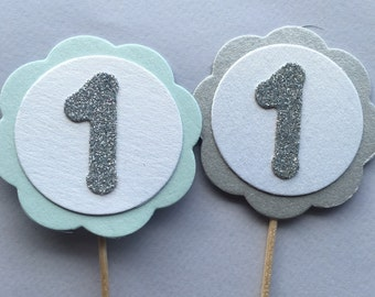 Baby's first birthday cupcake toppers Boys first birthday first birthday cupcake