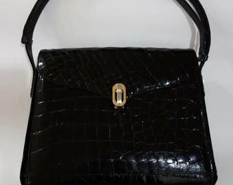 Authentic Crocodile Leather Shoulder Bag