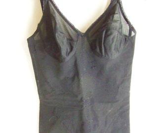 Body lingerie 1960 - black body lingerie -sculpting body