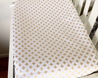 Change pad cover - Gold Cross - Universal Fit (80x50cm)