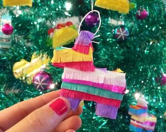 Mini Pinata Ornaments, Mini Piñata, Mexican Fiesta Christmas, Ornament, Christmas Decoration, Hostess Gift, Gift Exchange set of 3