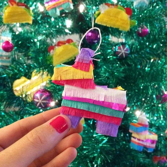 Mini Pinata Ornaments Mini Piñata Mexican Fiesta Christmas