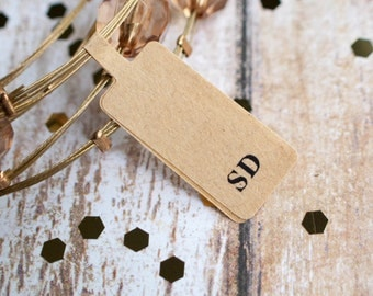 Custom jewelry sticker label price tag brown kraft paper