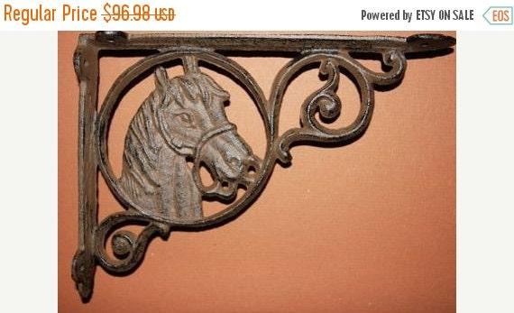 ON SALE 9 Pcs Horse Head Shelf Brackets Free By WePeddleMetal