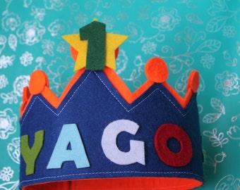 Felt birthday Crown.