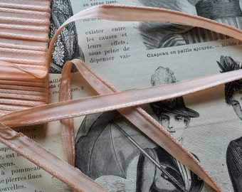 Antique fench silk  ribbon border, 1870s