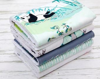 Baby Burp Cloths Set of 5, Baby Gift, Baby Shower, Newborn Burp Cloths, Gender Neutral Burpcloths, Panda Burpcloths, Bamboo Burp Cloths