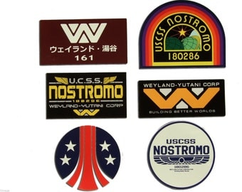 Nostromo WEYLAND-YUTANI CORP Decal Set of 6 Stckers
