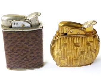 Two Vintage 'Evans' Petrol Lighters