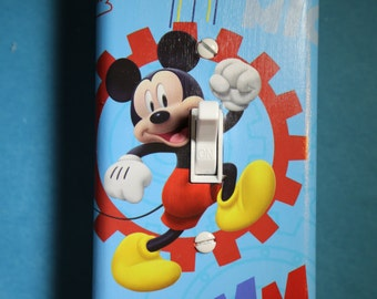 Mickey Mouse Light Switch Plate Socket Cover child kids room home decor bedroom Disney Clubhouse red