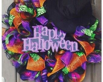 Halloween wreath-Witch wreath-Fall wreath-fall decor-door decor