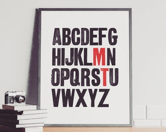 Personalised Vintage Alphabet Print