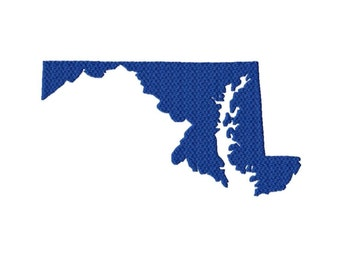 USA State Maryland Solid Fill Machine Embroidery DESIGN NO. 550