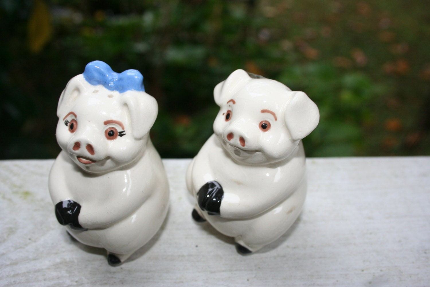 Pig Salt And Pepper Shakers So Cute By Uniquelymollie On Etsy