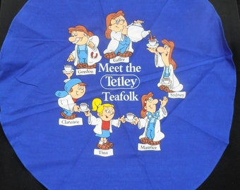 Tetley Tea Bags Tea Towel. Vintage. English. Meet the Tetley Folk