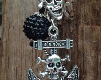 CAPTAIN JACK | Gasparilla Christmas Tree Ornament | Pirate Christmas Ornament  | Skull Ornament | Pirates of the Caribbean | Gasparilla