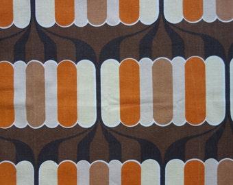 Vintage fabric mid century modern retro curtain cotton seventies graphic 1970s geometric pop art mod