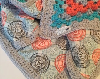 Crochet Baby Blanket With Lining