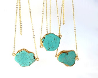 Turquoise Necklace, Mom sister friend jewerly gift